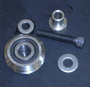 3/8 V groove wheel with fixed mtg kit Steel bearing dual seal for CNC router