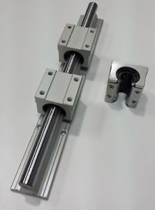 "Linear Guide Rail 71"" Length 20mm Diameter & 2 Ball Bearing Block CNC KIT Router"