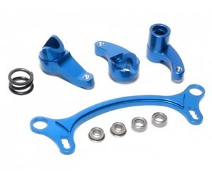Axial EXO BEARING STEERING ASSEMBLY CNC ALUMINIUM ALLOY BLUE by Blitz