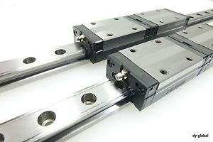 SSR25XW2UU+1020L THK Linear Bearing CNC Router LM Guide 2Rail 4Blocks 30mm pitch