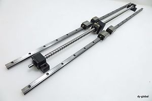 Linear Actuator Set THK LM Guide Preload Ground Ball Screw BNK1520 HSR15R+1000L