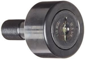 McGill CF1 5/8 Cam Follower, Standard Stud, Unsealed/Slotted, Inch, Steel,