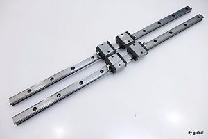 LM Guide Linear Bearing THK Used SR20V+605mm 2Rail 4Block CNC Route 3D Printer