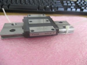 "THK Model: HRW17 Linear Bearing Block on Approximately 4¼"" Rail"