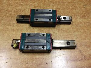 LOT 0F 2 HGH20CAH WITH RAILS Used THK HSR20R 2Rails 2BLOCKS CNC Route Linear
