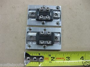 "Lot THK Linear Guide LM Rail 2 RSR9ZM Carriage Bearing Blocks 2.5"" 65mm Fixture"