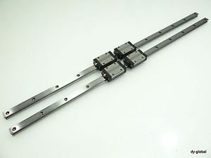 THK Used SSR15XW2U+680L Caged LM Guide Linear Bearings CNC Router 2Rail 4Block