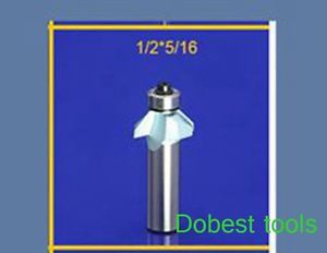 1piece 45degree chamfer bearing bevel angle CNC router bit trimming 1/2*5/16