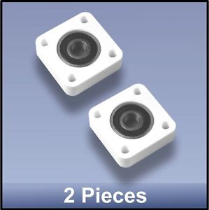 Compact Quality CNC 10mm 4 Bolt Square Block Flange Bearing Block – 2 pieces