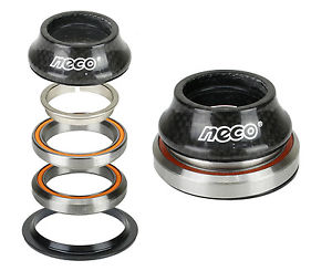 "NECO Bike Carbon CNC Integrate Taper Headset 1-1/8"" 1-1/2"" with Top 15mm Bearing"