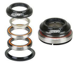 "NECO Bike Carbon CNC Integrate Taper Headset 1-1/8"" 1-1/2""with Top 7.8mm Bearing"