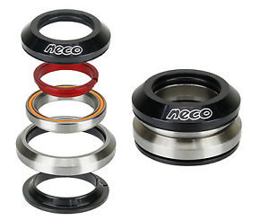 """NECO Bike CNC Full Integrated Headset 1-1/8"""" with 7.8mm Top 30mm Bottom Bearing"""
