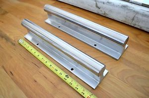 """NEW (2) 16"""" Thomson SRA-24 Linear Bearing Shaft Supported Rails 1-1/2"""" dia. -THK"""