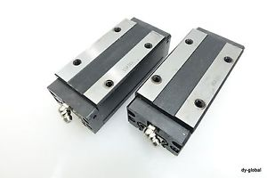Used Lot of 2 SHS25LR THK LM Guide Catridge Car Linear Bearing Type for replace