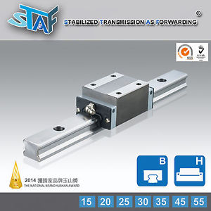 STAF BGXH25BL-1-L340-N-Z0 25Type Linear Guide 340L 2 Rail 2 Block THK/HIWIN Type
