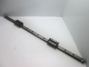 THK SR25 Rail and 2x Carriages, Rail Dimensions: 820mm x 18mm x 23mm