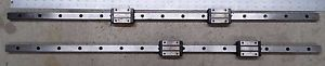Two NSK LY20 Linear guides THK XY motion control