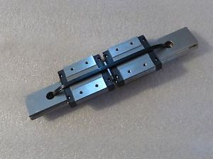 "2 THK RSR12WVM BEARING BLOCKS WITH 6-3/4"" 170MM LINEAR RAIL"