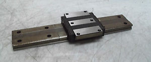 "THK HRW35 Bearing Block Assembly w/ 14-1/8"" of Rail, Used, WARRANTY"