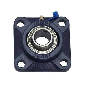 SF15 15mm Bore NSK RHP 4 Bolt Square Flange Cast Iron Bearing