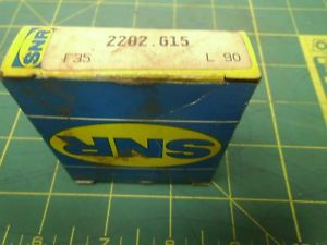 SNR DOUBLE ROW BALL BEARING SPHERICAL SELF ALIGNING 2202.G15 F35 L90 #J53090