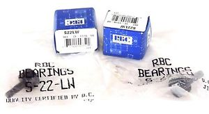 LOT OF 4 NEW RBC S-22-LW CAM FOLLOWER BEARINGS S22LW