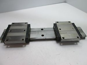 THK HRW35 Linear Rail With 2x Bearings (HRW-CA), Rail: 375mm Long x 69mm Wide