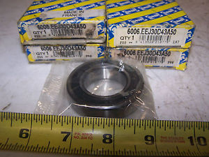 (4) NEW SNR 6006.EEJ30D43A50 55MM 30MM 1/2 IN BEARING LOT OF 4