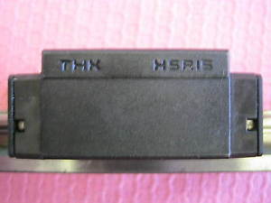 THK Model: HSR15 Linear Bearing Block w/ Rail. *W2