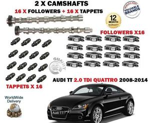FO AUDI TT 2.0 TDi 2008-  NEW 2X CAMSHAFT CAM SET + 16 X FOLLOWER + 16X TAPPETS