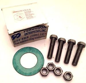 "NEW – Ferguson Enterprises 1/16 THK 150# 1.25"" Non-Asbestos Ring Gasket Set"