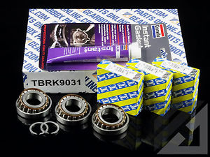 Opel M32 6 sp Gearbox 3 x uprated genuine SNR top casing bearing kit
