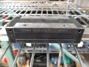 THK SHS20LV Linear Bearing Block on 2440mm Rail *Rough Section on Rail Channel*
