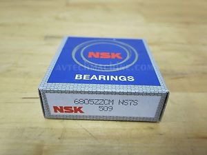 NSK BEARING DEEP GROOVE BALL BEARING 6805ZZ