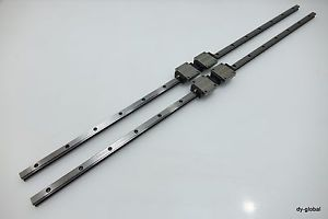 Linear Bearing HSR15A2UU+900mm Used THK 2Rail 4Block LM Guide NSK CNC Route DIY