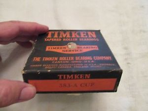 NOS, Unopened Box, Timken Tapered Roller Bearing Set 383-A Cup
