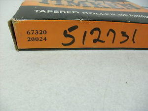 TIMKEN 67320 20024 TAPERED BEARING SET CUP, NEW, USA