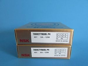 NSK7008CTYNDBL P4 ABEC-7 Super Precision Angular Contact Bearing. Matched Pair