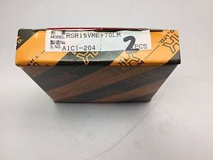 THK LM RSR15VME+70LM LINEAR BEARING 2pcs **NEW IN BOX**