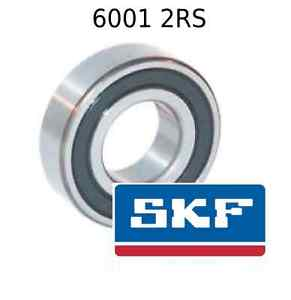 6001 2RS Genuine SKF Bearings 12x28x8 (mm) Sealed Metric Ball Bearing 6001-2RSH