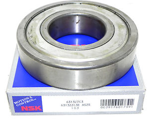 NIB NSK 6313ZZC3 BALL BEARING SINGLE ROW 6313ZZC3E AS2S