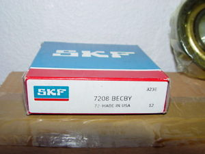 SKF 7208 BECBY Ball Bearings NEW Angular Contact Ball Bearing Single Row USA