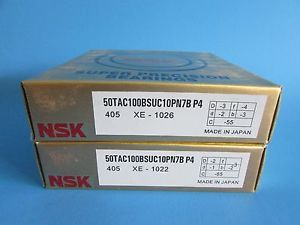 NSK50TAC100BSUC10PN7B P4 ABEC7 High Precision Ball Screw Bearing. Matched Pair