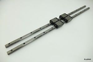 NSK LS15AL+700L-2 Linear Actuator LM Guide Bearing 2Rail 4Blocks THK SR15W CNC