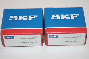 (Lot of 2) SKF 3200 A-2ZTN9/C3 Angular Contact Bearings 3200.A.2Z.TN9.C3 * NEW *