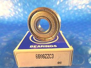 NSK 6000ZZC3 Single Row Deep Groove Ball Bearing, (=2Timken 9100KDD, SKF2Z,NTN)