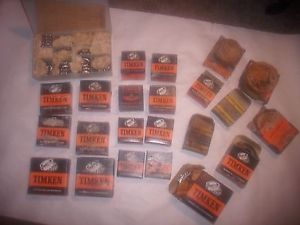 assorted bearing lot..TIMKEN, others ..old stock..wheel, equipment parts
