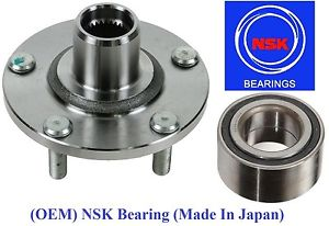 Front Wheel Hub & (OEM) NSK Bearing Kit fit Nissan Altima 2.5L 2002-2006