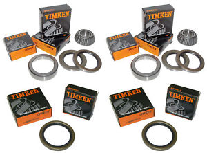1969-82 Corvette Timken All 4 Front/Rear Wheel Bearings