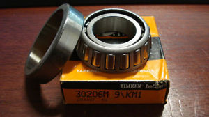 TIMKEN 30206M, Assembled Tapered Roller Bearing, 30mm x 62mm x 17.25mm, /GO3/ RL